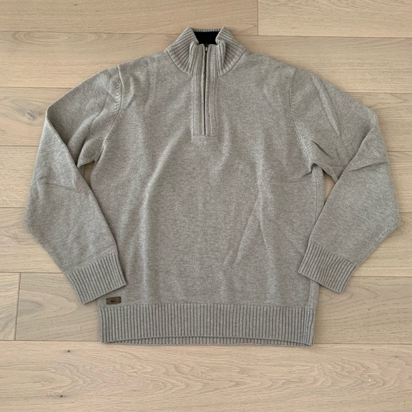 Lacoste Other - MENS Lacoste Wool Cotton Half Zip Sweater